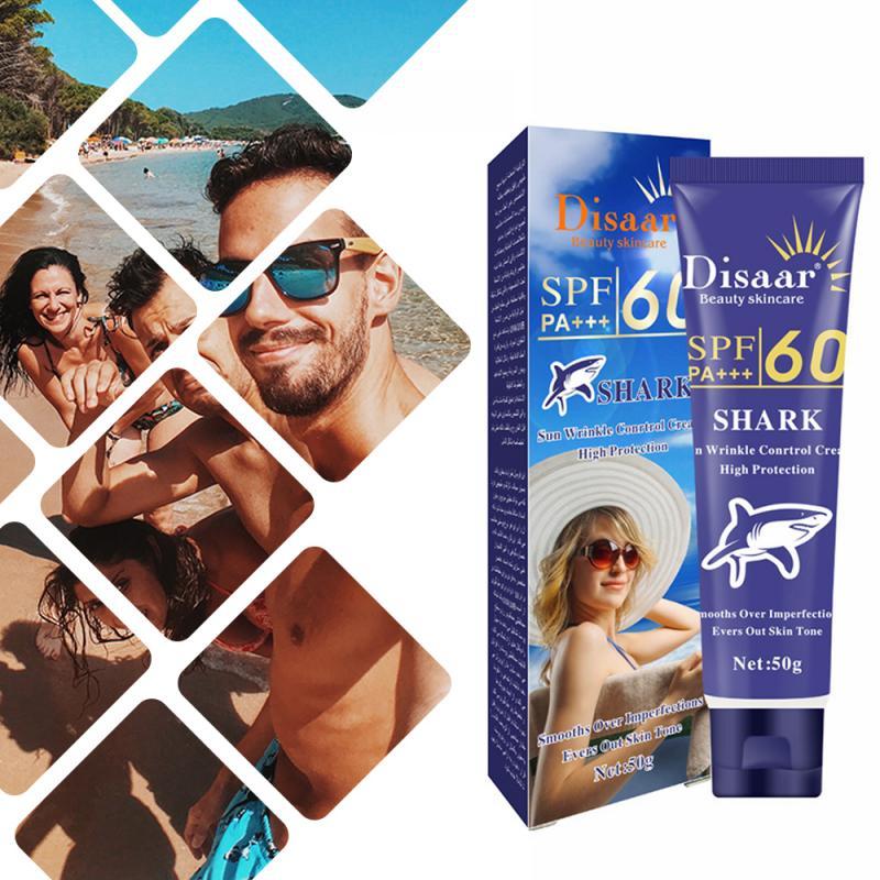 Disaar protetor solar creme spf 50 + + hidratante pele proteger protetor solar 80g cuidados com o rosto impede danos à pele, remover manchas pigmentation