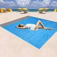 200cm waterproof pocket beach blanket folding camping mat mattress portable lightweight mat outdoor picnic mat sand beach mat