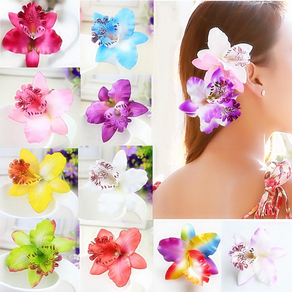 女の子自由奔放に生きるスタイルhairclipsバタフライ蘭の花ヘアバンド髪飾り無地ヘアピンヘアアクセサリー