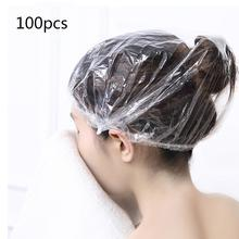100Pcs Disposable Plastic Waterproof Hairdressing Headgear For Bathing Shampoo And Beauty Salon Hair
