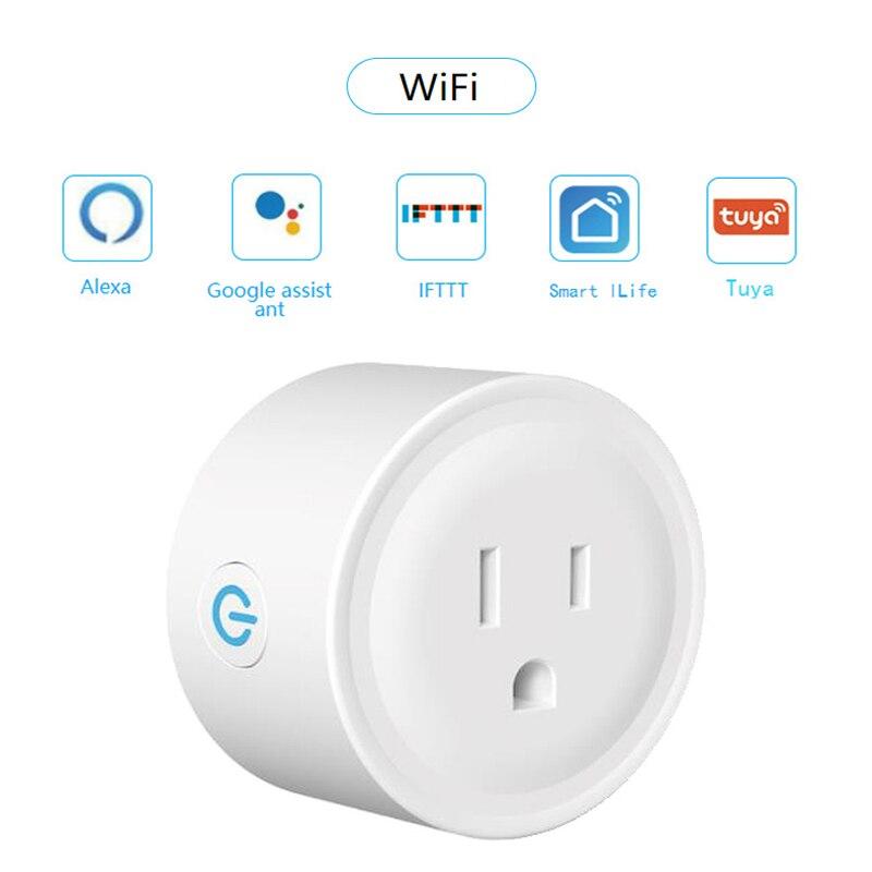 Фото - US Smart Plug Wi-Fi умная розетка Smart Life Plug Alexa Enchufe Wi-Fi умный таймер разъем Google Home мини IFTTT Tomada Inteligente wi fi розетка xiaomi mi smart plug enhanced eu vde wi fi белый zncz03cm