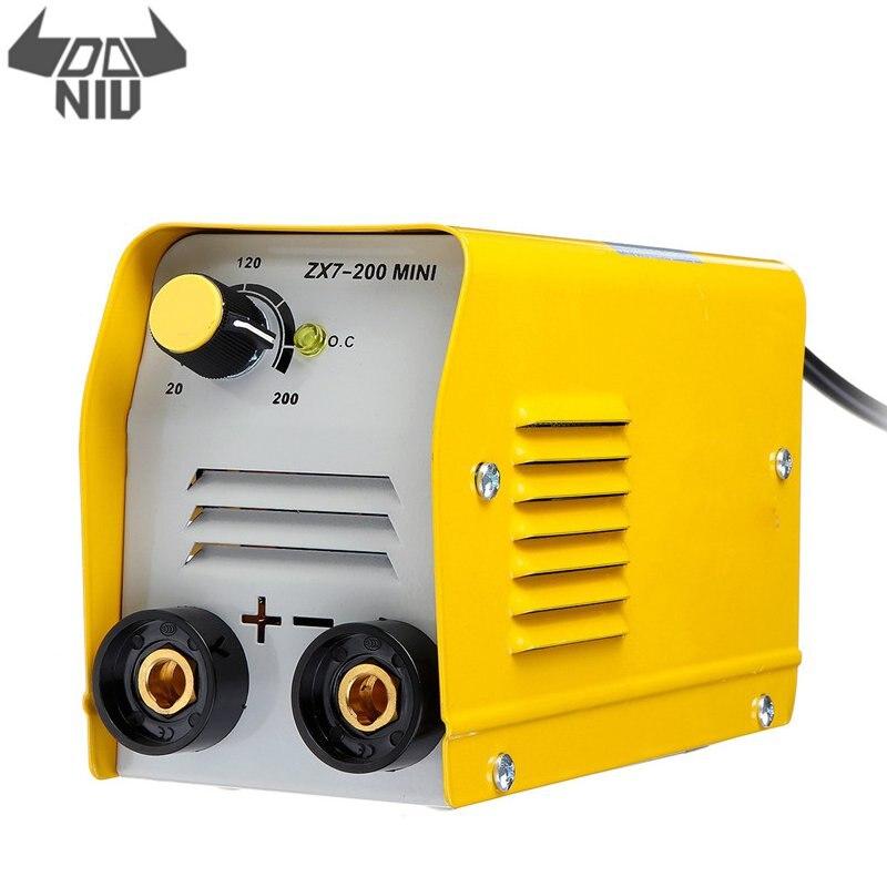 DANIU Protable Handheld 200A Mini Electric Welding Machine IGBT DC Inverter ARC MMA Stick Welders for Welding Various Materials