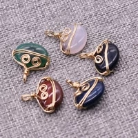 2pcs natural stone pendant irregular winding exquisite agates for jewelry making diy necklace bracelet accessory