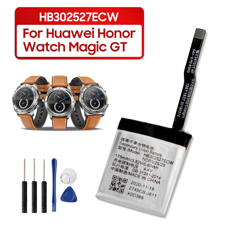 Original Replacement Battery For  Huawei Honor Watch Magic GT HB302527ECW Genuine Watch Battery 178mAh with Tools enlarge