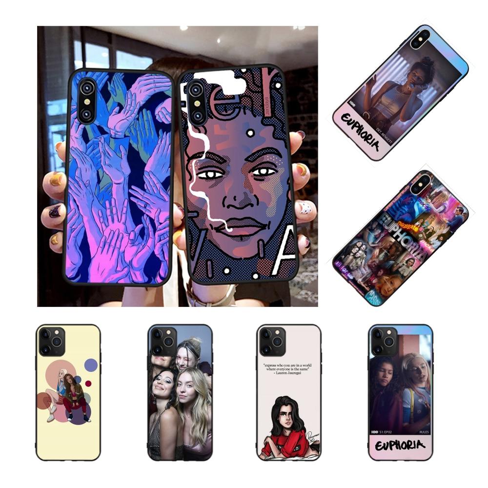 NBDRUICAI série TV américaine euphorie bricolage impression coque de téléphone pour iPhone 11 pro XS MAX 8 7 6 6S Plus X 5S SE XR étui