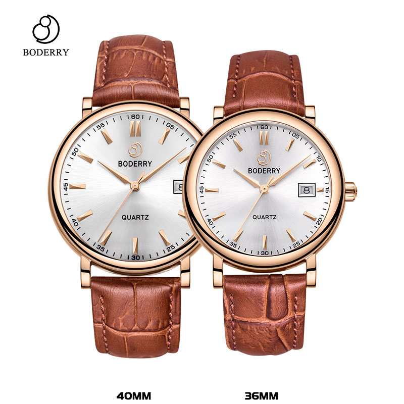 Couple Watch for Lover Brand Luxury Swiss Quartz Movement Pair Watch Men and Women Stainless Steel Leather Fashion Wrist Watch