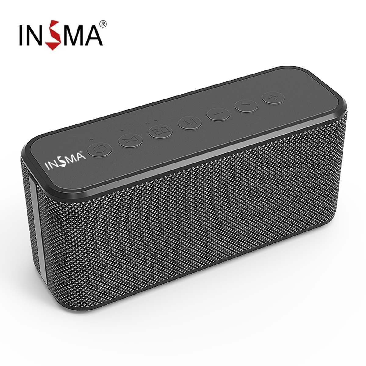 INSMA 80W مكبر صوت بخاصية البلوتوث قابل للنقل مع 2*20w مضخمات الطاقة و 40w باس رئيس 10400mAh قوة البنك وظيفة المسرح المنزلي