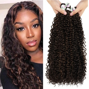 Synthetic Hair Bundles Extension Water Wave Natural Color 24-28inches Super Long Natural Curly Wavy Free Shipping Fashion Icon
