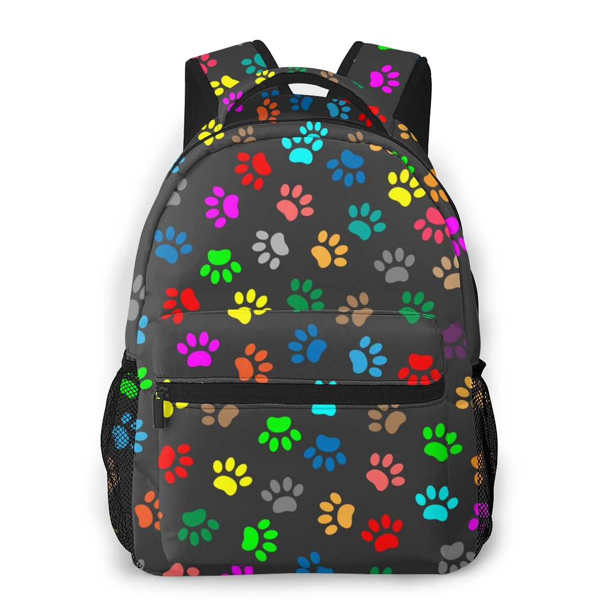 حقيبة ظهر كاجوال للمراهقين ، حقيبة سفر ملونة بطباعة مخالب حيوانات ، حقيبة مدرسية عصرية ، حقيبة كتف