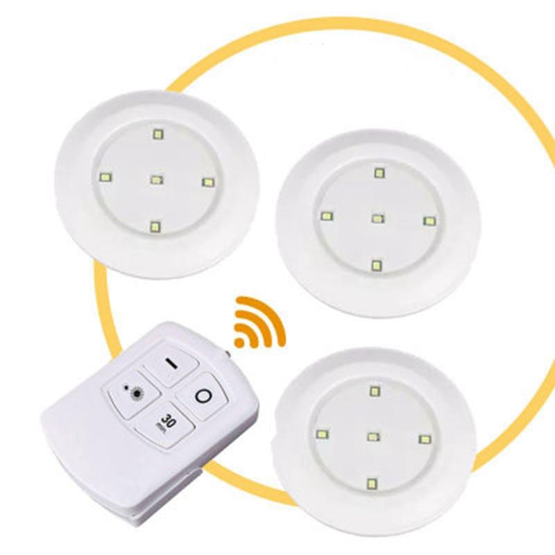 5LEDs lámparas LED atenuable para armario luz de la batería inalámbrico de Sensor táctil o controlador remoto armario escaleras LED lámpara de noche