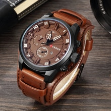 CURREN Top Brand Luxury Mens Watches Date Sport Military Male Clocks Leather Strap Quartz Business M