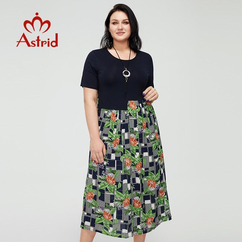 Astrid-فستان صيفي طويل من القطن مع طباعة الأزهار ، على الطراز البوهيمي ، غير رسمي ، عتيق ، مقاس كبير ، مع قلادة ، مجموعة 2021