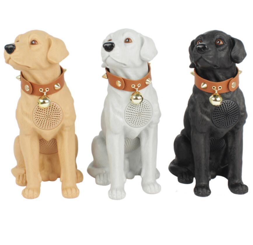 TF USB FM AUX TWS Bulldog Bluetooth Speaker Pet Dog Subwoofer Cartoon Full Body Dog Wireless Card Mini Speakers enlarge