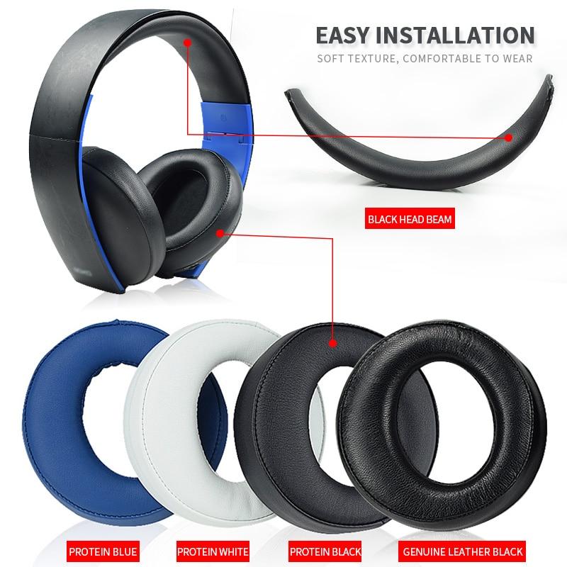 Almohadillas originales para los oídos, negras, para Sony PS3 PS4, envolventes, virtuales,...