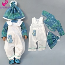 """Vestiti per le bambole pantaloni flamingo vestiti del pagliaccetto per il bambino bambola insiemi di usura per 18 """"new born baby Doll accessori giocattoli usura"""