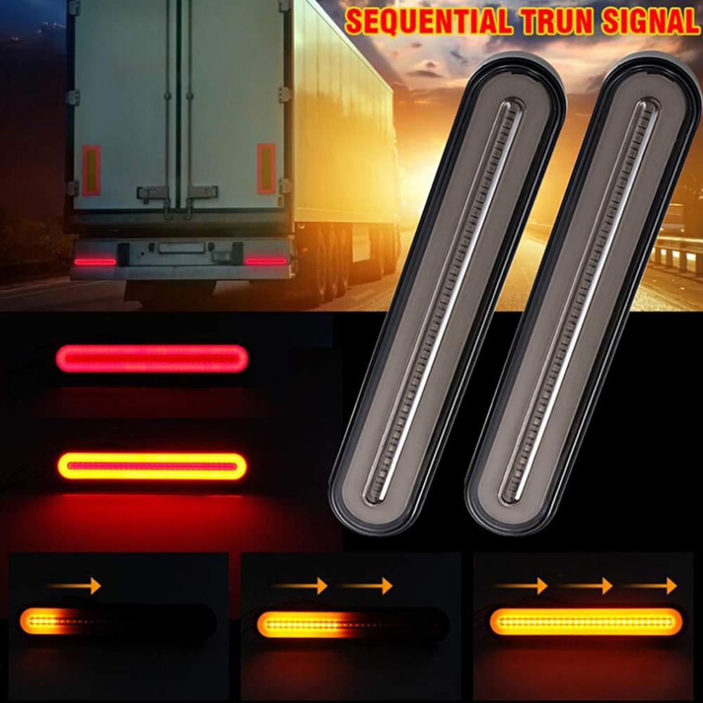 2 шт. светодиодные фонари для ATV грузовика прицепа s Водонепроницаемый Автомобильный задний фонарь стоп-сигнал поворота Стоп-сигнал сигнала ...