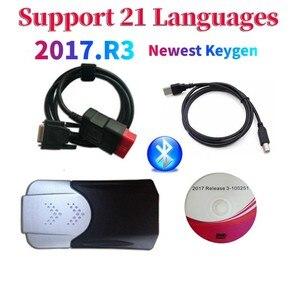 Image 1 - 2021 Новое поступление 2017.R3 2016.R0 keygen vd ds150e cdp Bluetooth vd tcs cdp автомобили/грузовики OBD диагностический инструмент для дельфиса
