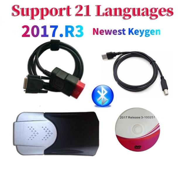 2021 Новое поступление 2017.R3 2016.R0 keygen vd ds150e cdp Bluetooth vd tcs cdp автомобили/грузовики OBD диагностический инструмент для дельфиса