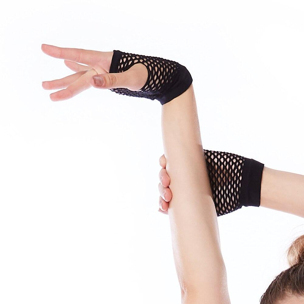 MiDee Dance Accessory Performance Hands Wear Fishnet Gloves Fingerless Uni