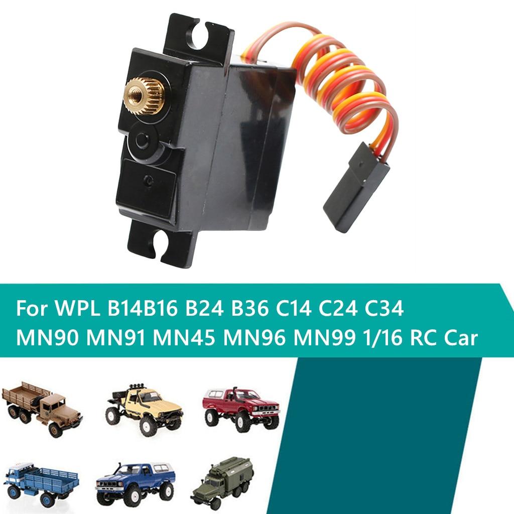 Para B14 B16 B24 B36 MN90 MN91 MN99 control remoto accesorios de coche actualización de seguridad estable 3 cables metal gear servo