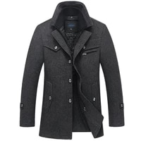 winter coat men new fashion double collar windproof thicken woolen coats mens outwear winter jacket thick warm 5xl clothes