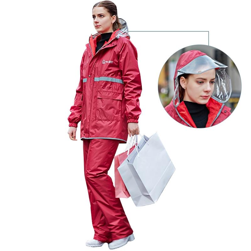 Protable Outdoor Fashion Waterproof Raincoat Motorcycle Poncho Raincoat Rain Protection Hooded Cloak Capa De Chuva Rain Gear enlarge
