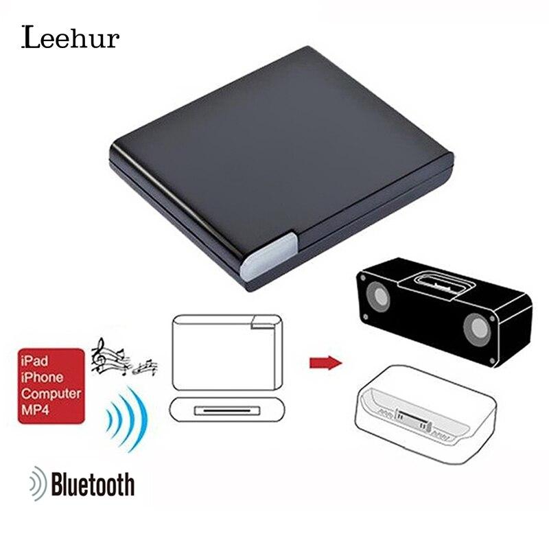 Adaptador Bluetooth Leehur 30 pines Bluetooth 5,0 receptor de Audio receptor para iPod iPhone Bluetooth teléfono medio adaptador de altavoz