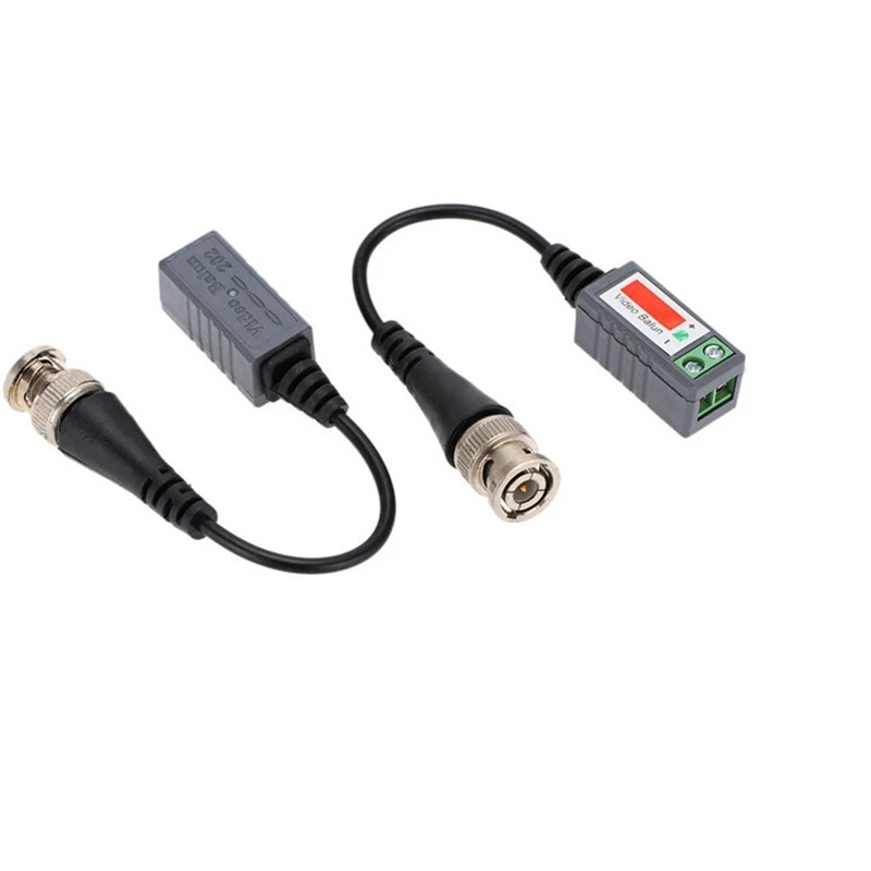 10 Pairs Coax CAT5 Camera CCTV Passive BNC Video Balun to UTP Transceiver Connector 2000ft Distance Twisted Cable enlarge