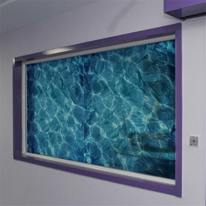 Película de ventana ondulada de agua, cubierta de vidrio de privacidad, puerta de ducha de hogar, dormitorio con pegatinas de vidrio esmerilado de goma