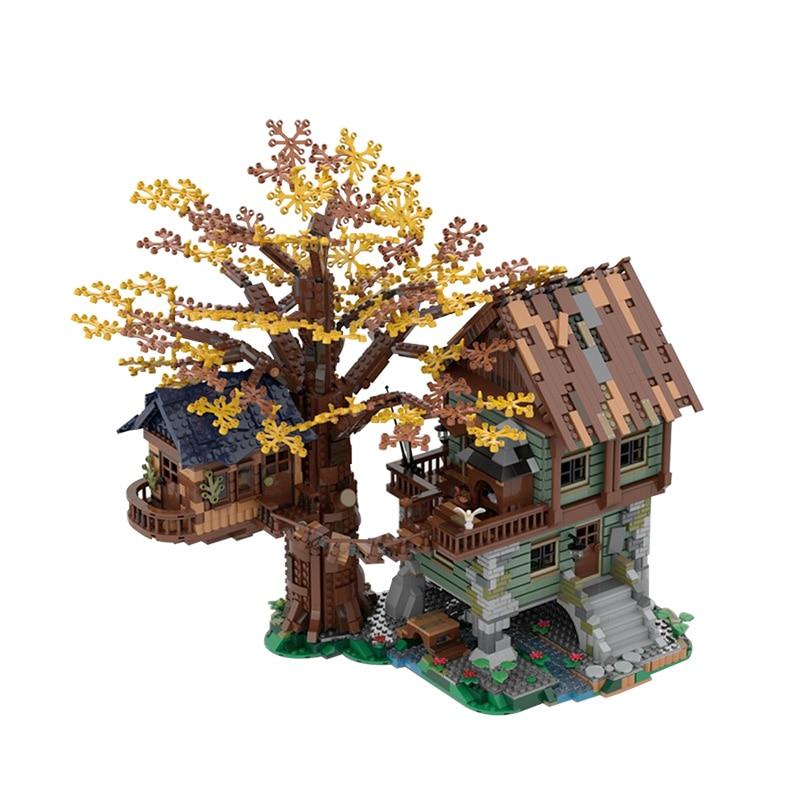 MOC Country House Fall Foliage Scene Building Model Building Blocks DIY Children Education Building Block Toys Christmas