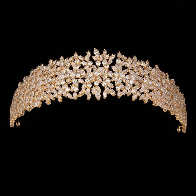 Tiaras Vintage plateadas de lujo barrocas de cristal Corwn para novia HADIYANA...