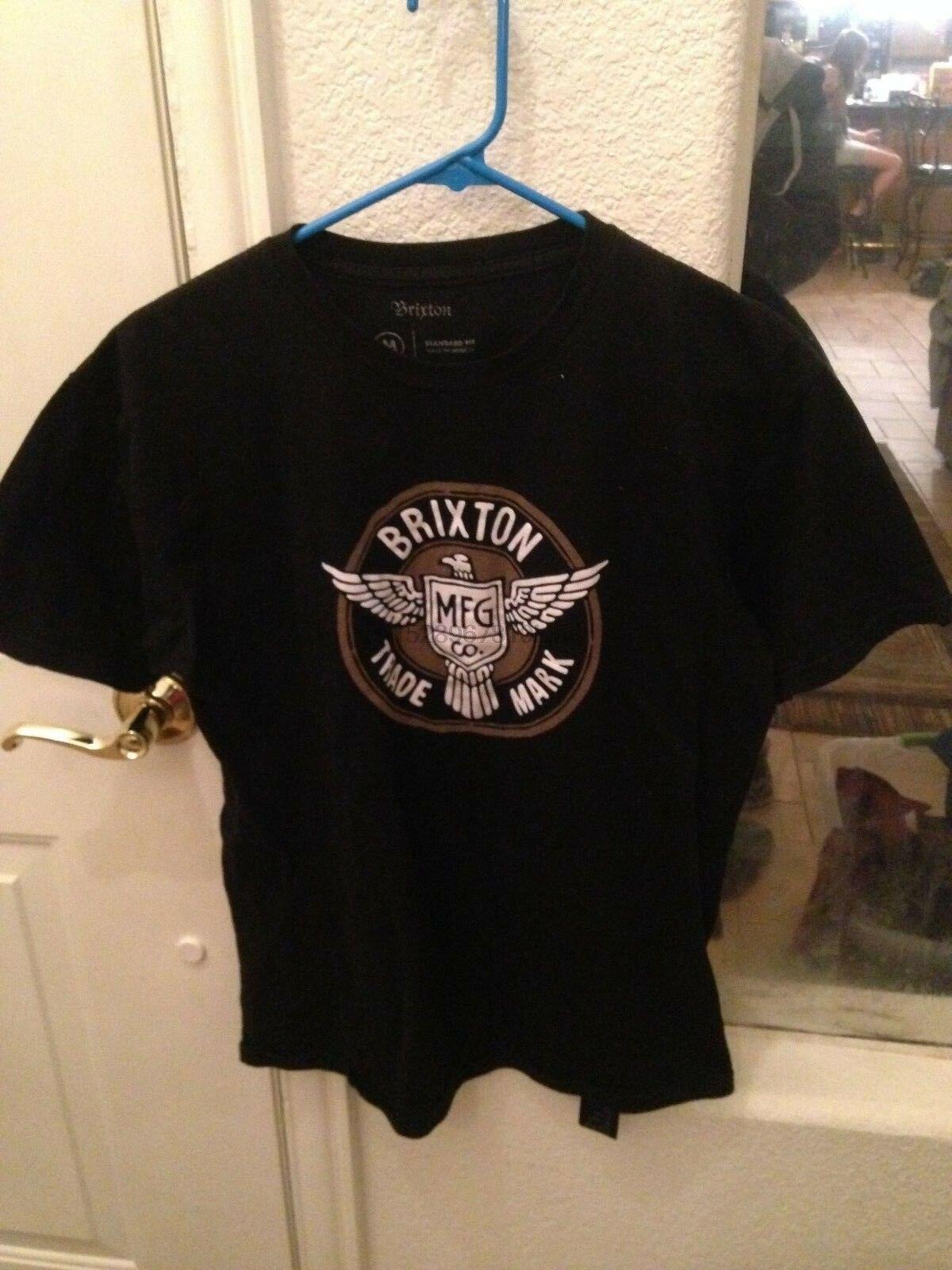 Camiseta de marca Brixton Mfg Co talla media negra