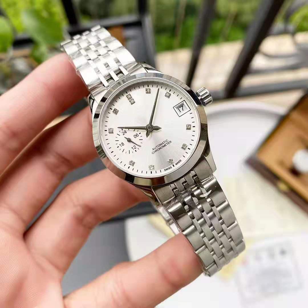 2021Top Luxury Brand Ladies Watch Stainless Steel Automatic Mechanical Watch Diamond Sapphire Belt Steel Belt 50 Meters AAA+ enlarge