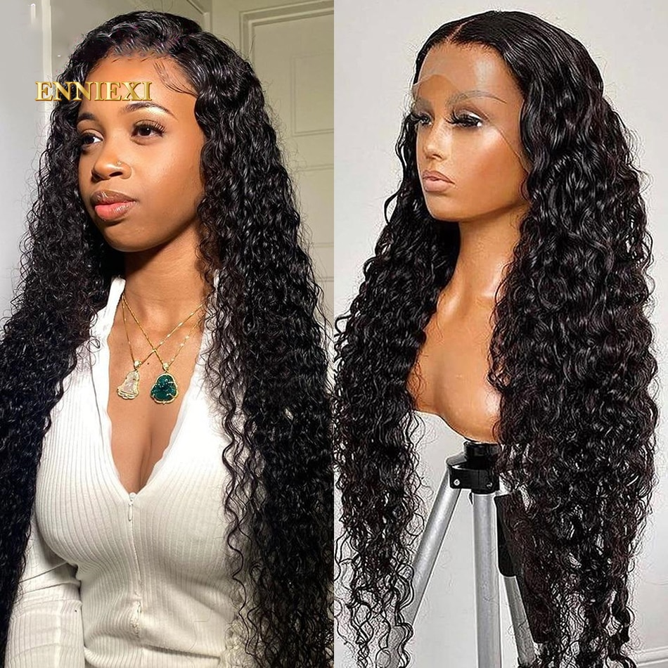Hd Lace Frontal Wig 13x4 Transparent Wet And Wavy Lace Front Wig Water Wave Curly Lace Front Human Hair Wigs 4x4 Closure Wig 180