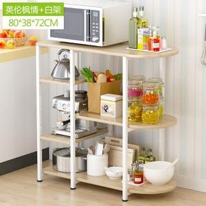 K-star Creative Microwave Rack Multi Function Oven Storage Dining Table Kitchen Daily Storage Locker Dinnerware Organizer Modern