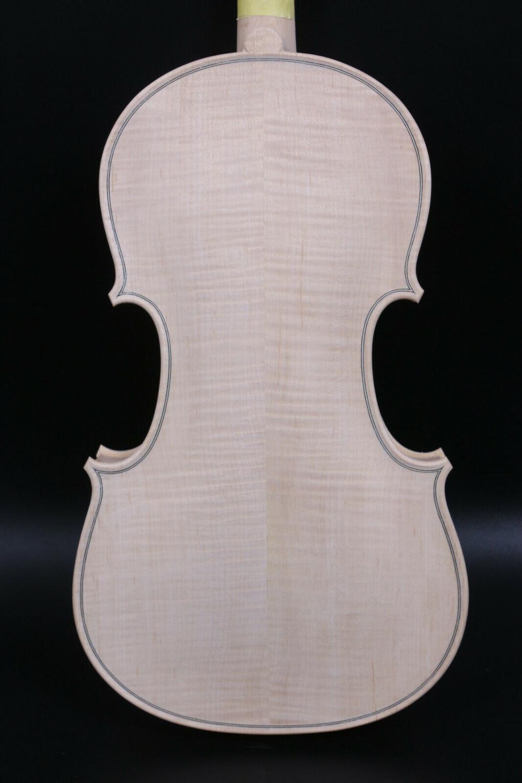 4/4 Flame maple Violin Full size Unfinished Violin Spruce wood Hand Made enlarge