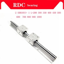SBR-rail linéaire haut de gamme SBR10   300 350 400 450 500 600mm, 1 pièce, 1 pièce, guide linéaire SBR10 + 2 pièces SBR10UU