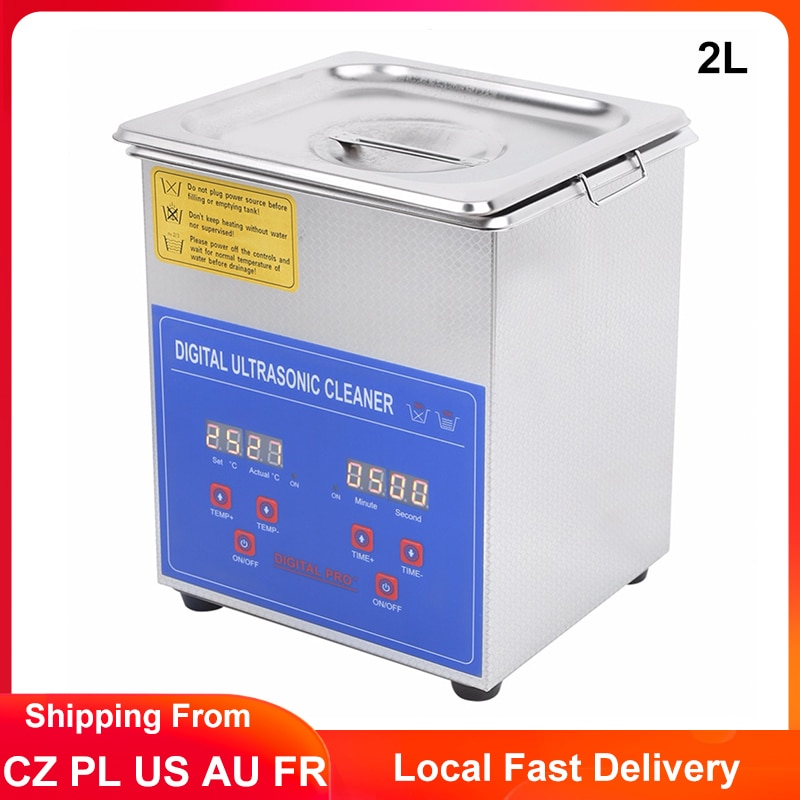2L Digital Ultrasonic Cleaner Timming Heated Ultrasonic Bath Cleaning Machine Jewelry Glasses Dental Parts Ultrasound Washer industrial 88l ultrasonic cleaner generator engine oil auto car parts motherboard hardware washer heated bath equipment