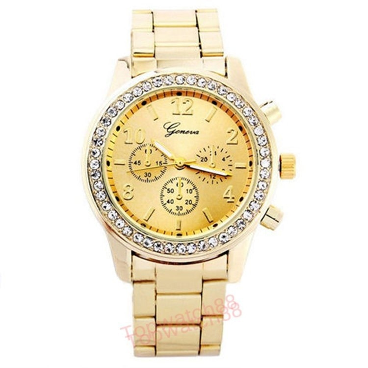 Fashionable casual wome three-eyed six stitches fashion steel belt male ladies watch lovers a undert