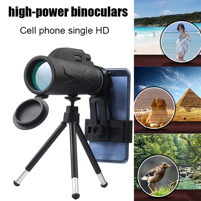 Prisma portátil Monocular de alta definición con zoom 80X100 telescopio óptico para teléfono móvil y T8