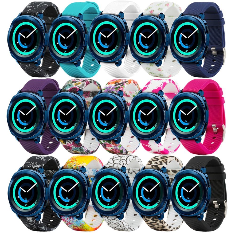 20mm pulseira de relógio para galaxy relógio 42mm/samsung gear 2 clássico/huawei relógio 2 relógio/garmin vivoactive 3/forerunner 645 silicone w