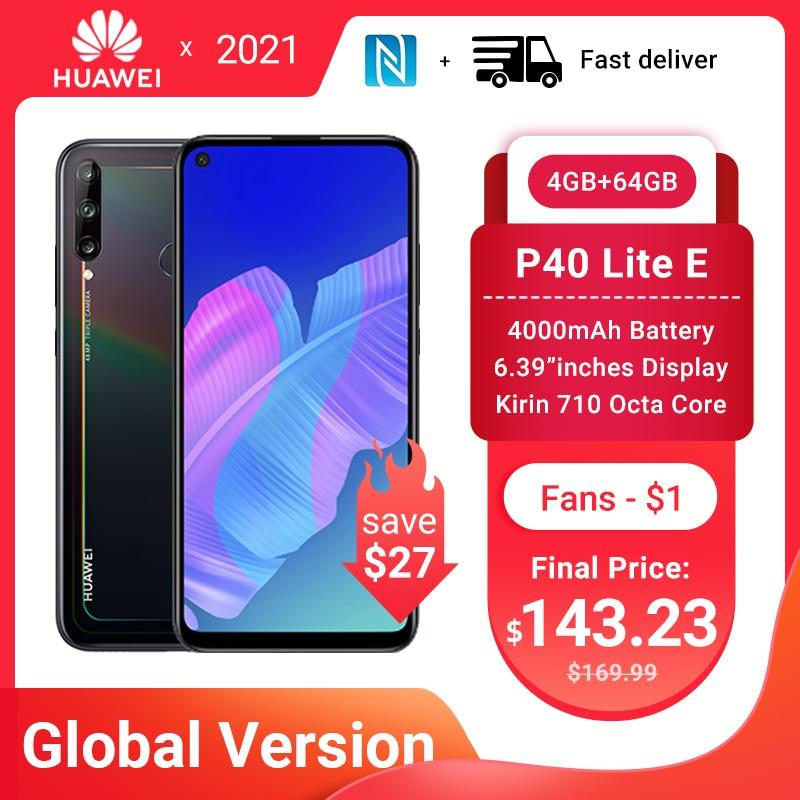 Глобальная версия Huawei P40 lite E 4GB 64GB смартфон 48MP AI камеры 6,39 дюйм FHD экран Kirin 710 Octa Core NFC Быстрая доставка