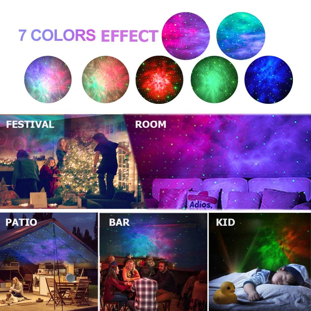 luminaria Estrela noite luz laser galxia cu estrelado projetor girando nebulosa led night lamp crianas presente com controle rem enlarge