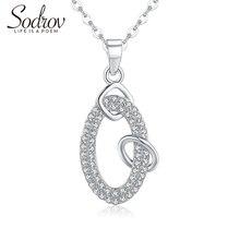 Sodrov модный элегантный AAA Циркон 925 серебро Классическая Подвеска на ожерелье ювелирные украшения для женщин