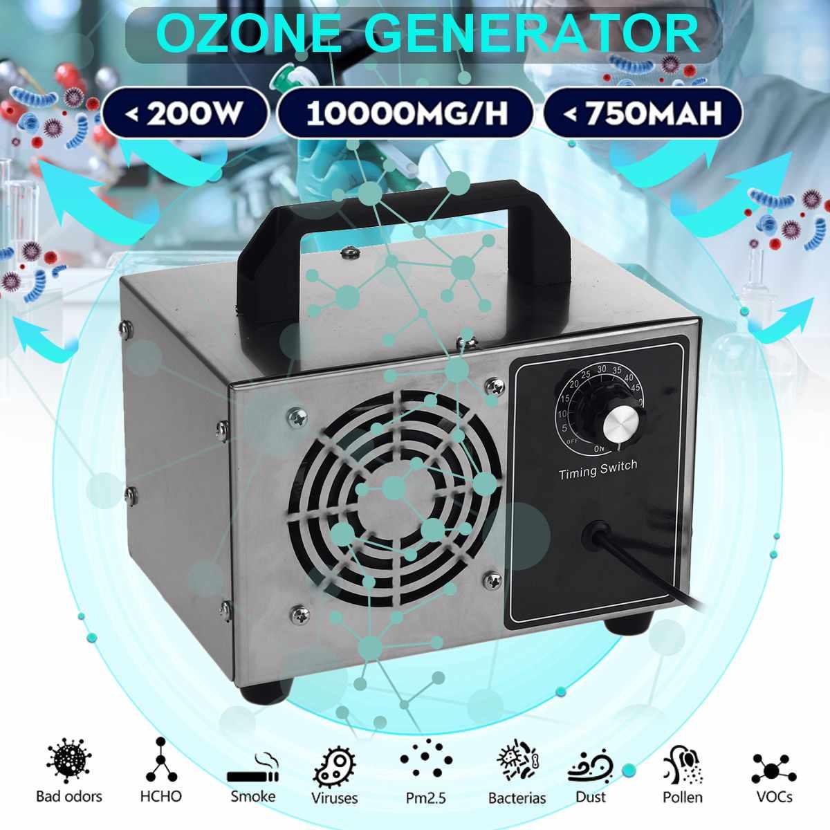 220/110V 24 g/h 20 g/h 10 g/h 5 g/h O3 generador de ozono ozonizador purificador de aire limpiador de aire desinfectante + interruptor de sincronización