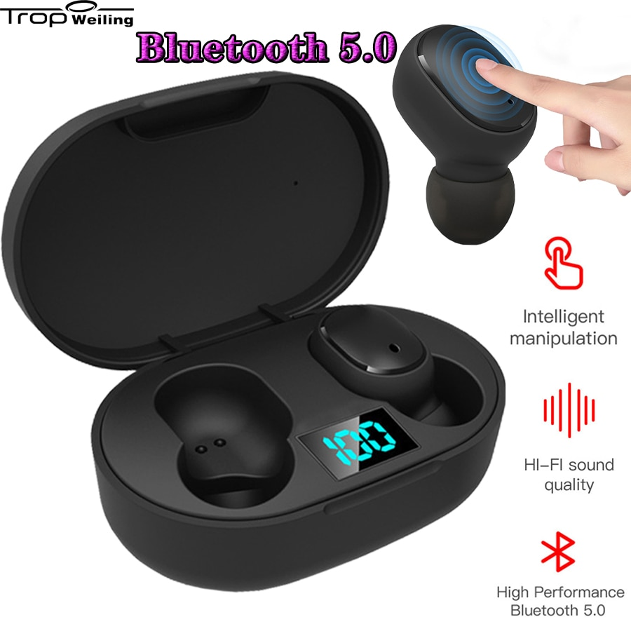 Tws auriculares Bluetooth con pantalla Digital Led, Tws Redmi para auriculares deportivos/iPhone/Samsung