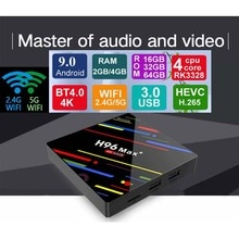 H96 MAX Plus Android 9.0 TV Box Rockchip RK3328 4GB Ram 64GB Rom 4K H.265 USB3.0 BT4.0 2.4G 5G Wif décodeur