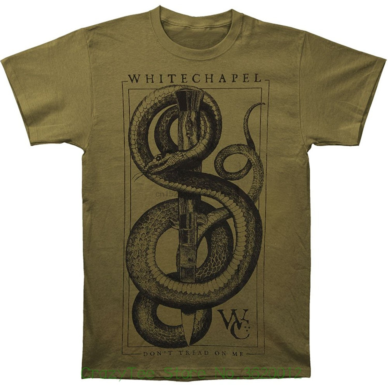 Camiseta de manga corta con estampado de dibujos animados envío gratis Whitechapel para hombre Camiseta verde