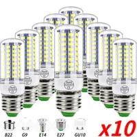 10pcs b22 ledlamp bulb e14 led candle light bulb e27 corn lamp g9 led 3w 7w 9w 12w 15w bombilla 1 5pcs chandelier lighting 220v
