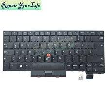 Teclado para Lenovo ThinkPad T470 T480 LA latin black Pointer, teclados 01HX342, SN53601, SN20P41684, reemplazo 01AX367, 01AX531